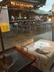土砂降りの雨